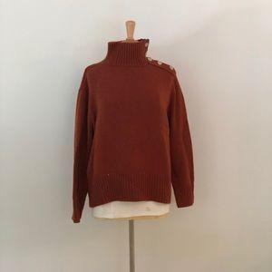 Zara Orange Chunky TurtleNeck Sweater